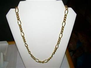 """Erwin Pearl Link Chain Necklace - Thick Heavy 24"""" -"""