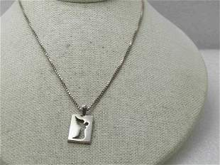 """Sterling Silver Lavaggi Angel Necklace, 20"""" Box Chain"""