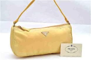 Yellow Prada Shoudler Bag