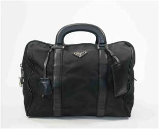 Prada black Tetsuto Boston Bag