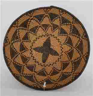 Fine Apache woven basket ca 1920's