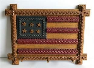 Tramp Art Flag