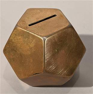 Geometrical Brass Bank Dodecagon Shape