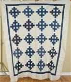 1890's Indigo Blue & White Quilt Top