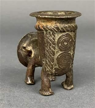 Africa Yoruba Bronze Pipe
