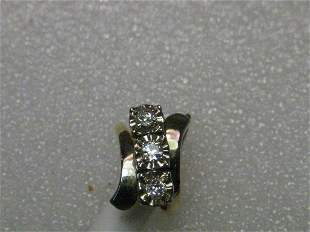 Vintage 14kt gold Diamond Engagement or Cocktail Ring -