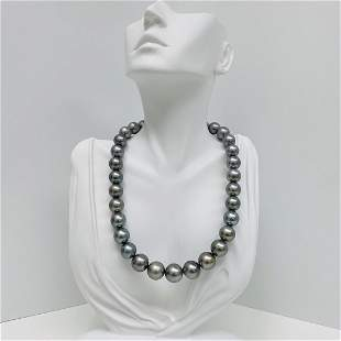 12-15mm Tahitian Silvery Blue-Green Near-Round Pearl