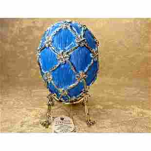 Decorative Faberge luxurious egg Musical Swan jewelry