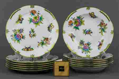 Herend Queen Victoria Plate Set for Six People, 12