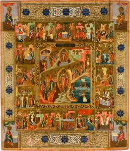 Large Feast day Icon