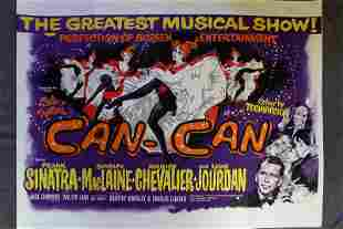 """Can-Can (r.1970's) 30"""" x 40"""" UK Quad Movie Poster"""