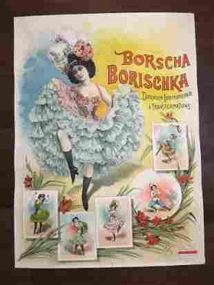 "Borscha Borischka - Art by Louis Galice (1900's) 35"" x"