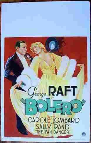 Bolero - George Raft (1934) US Window Card Movie Poster