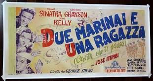 "Anchors Aweigh (1945) 81"" x 39.5"" Italian Movie Poster"