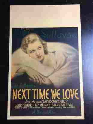 Next Time We Love - Margaret Sullivan (1936) US Window