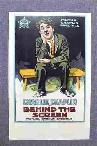 Behind The Screen - Charlie Chaplin (1916) US Window