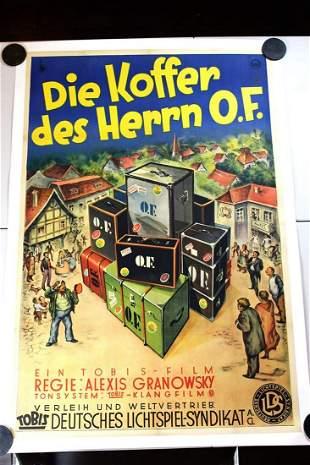 """Die Koffer des Herrn O.F. (1931) 37.25"""" x 55.5"""" German"""