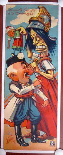 Old Europe & Montenegro (1913) French Propaganda Poster