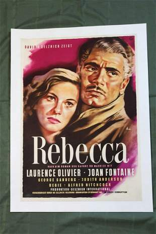"Rebecca (Germany, 1940) 33"" x24"" Movie Poster"