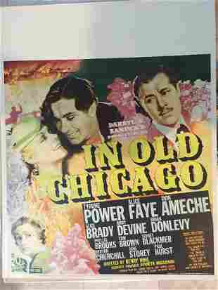In Old Chicago (1938) US Jumbo Window Card Movie Poster