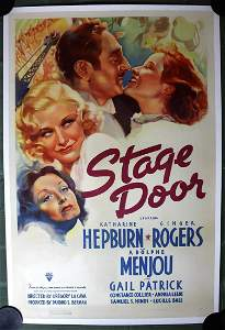 Stage Door (1937) US 1SH Movie Poster LB