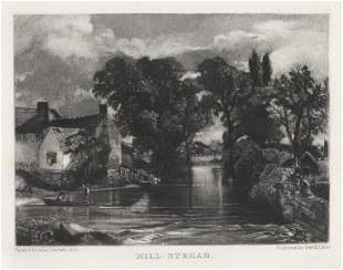 "Sir John Constable / David Lucas mezzotint ""Mill"