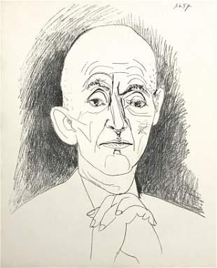 """Pablo Picasso lithograph """"Portrait of Daniel-Henry"""