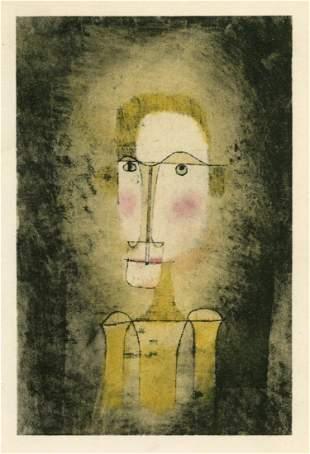 """Paul Klee pochoir """"Bildnis eines Gelben"""""""