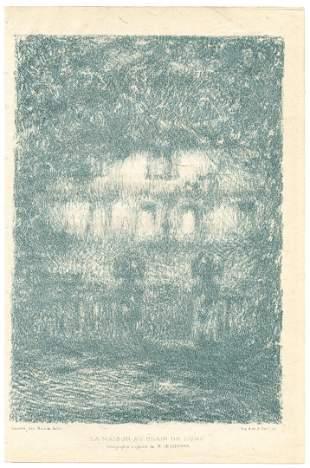 """Henri Le Sidaner original lithograph """"La Maison au"""