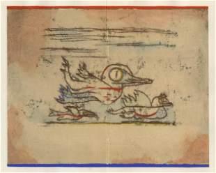 """Paul Klee pochoir """"Reisende Vogel (Traveling Birds)"""""""
