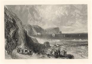 "J. M. W. Turner ""Clovelly"" engraving"