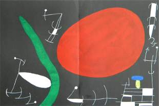 Joan Miro lithograph   L'Oiseau Solaire, L'Oiseau