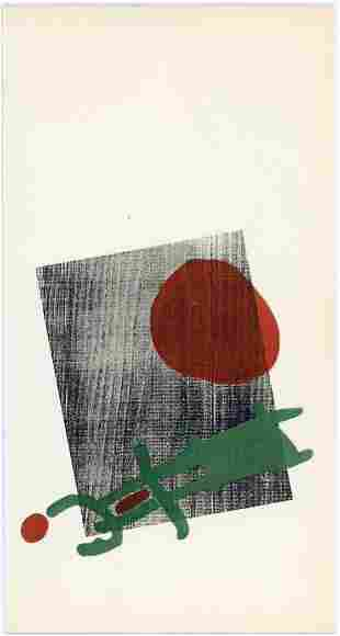 "Joan Miro pochoir ""A Toute Epreuve"" 1958"