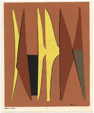 Alberto Magnelli pochoir   Temoignages pour l'art