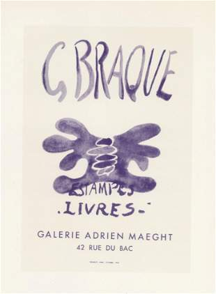 "Georges Braque lithograph poster ""Estampes Livres"""