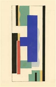 """Fernand Leger 1928 pochoir """"Peinture murale"""""""