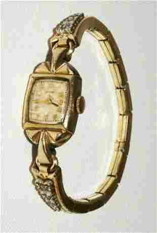 Antique US Ladies Wristwatch Jewels Movement Elgin 541