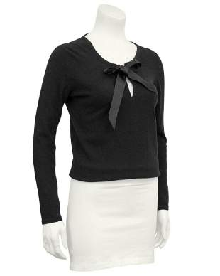 Chanel Black Scottish Cashmere Sweater with Thread