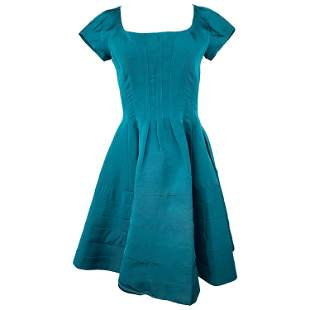 Zac Posen Green Mini Dress Size 6