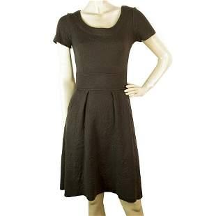 Twin Set Simona Barbieri Brown Jacquard Wool Knit Short