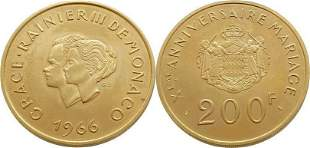 Monaco 200 Francs 1966 Rainier III - Gold Proof