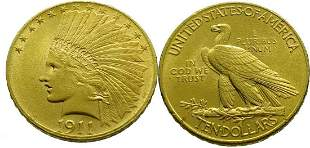 USA 10 Dollars 1911 Indian Head - Gold Extremely Fine /