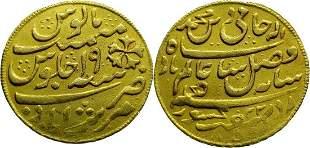 British-West India 1/2 Mohur 1777 Bengal Presidency