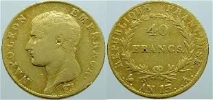 France 40 Francs An 13-A (1804) Napoleon I - Gold Very