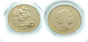 United Kingdom 1/2 Sovereign 2011 Elizabeth II - Gold