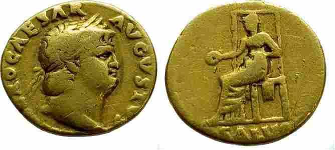 Roman Empire AV Aureus, Nero Ca. 66-67 (AD 54-68).