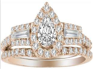 14kt Diamond Ring with FREE Band, 1.00Ct Total Weight