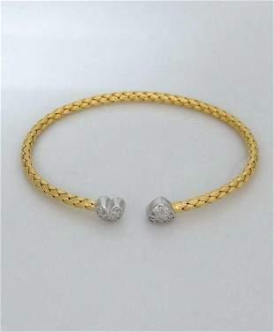 18K YELLOW GOLD 925 STERLING SILVER CHARLES GARNIER
