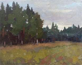 Oil painting By the evening Peter Tovpev