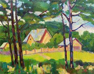 Oil painting Country houses Peter Tovpev